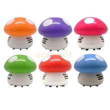 Portable Cute Mini Mushroom Corner Desk Table Dust Vacuum Cleaner Sweeper 6 Colors