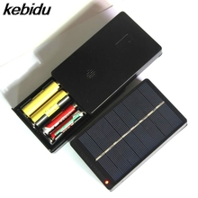 kebidu Hot! Solar Battery Charger 1W 4V with LED Indicator Light for AA / AAA NiCd NiMh Rechargeable Batteries(China)