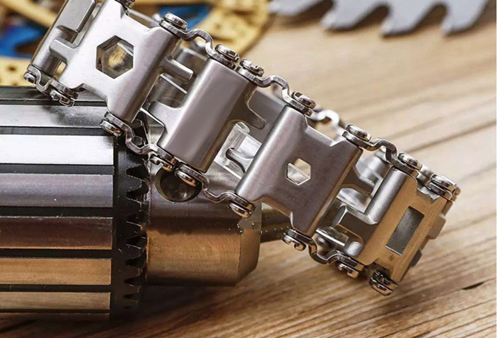 EDC 17-4 Stainless Steel Outdoor 29 Kinds Of Multi-functional ToolS Bracelet Portable Tools Camping Survival Screwdriver Cutting