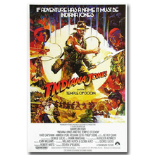 "INDIANA JONES and The Temple of Doom RARE HOT NEW Art Silk Fabric Poster Print 12x18 24x36"" Films Pictures For Room Decor 002(China)"