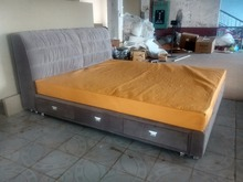 storage drawer modern contemporary velvet sleeping bed King size bedroom furniture China