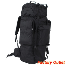 US Army bag 100L black large capacity military backpacks frame molle men for camping
