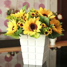 Lifelike Artificial Sunflower Artificial Plastic Sunflower Heads Home Party Decorations Props 1 Bouquet