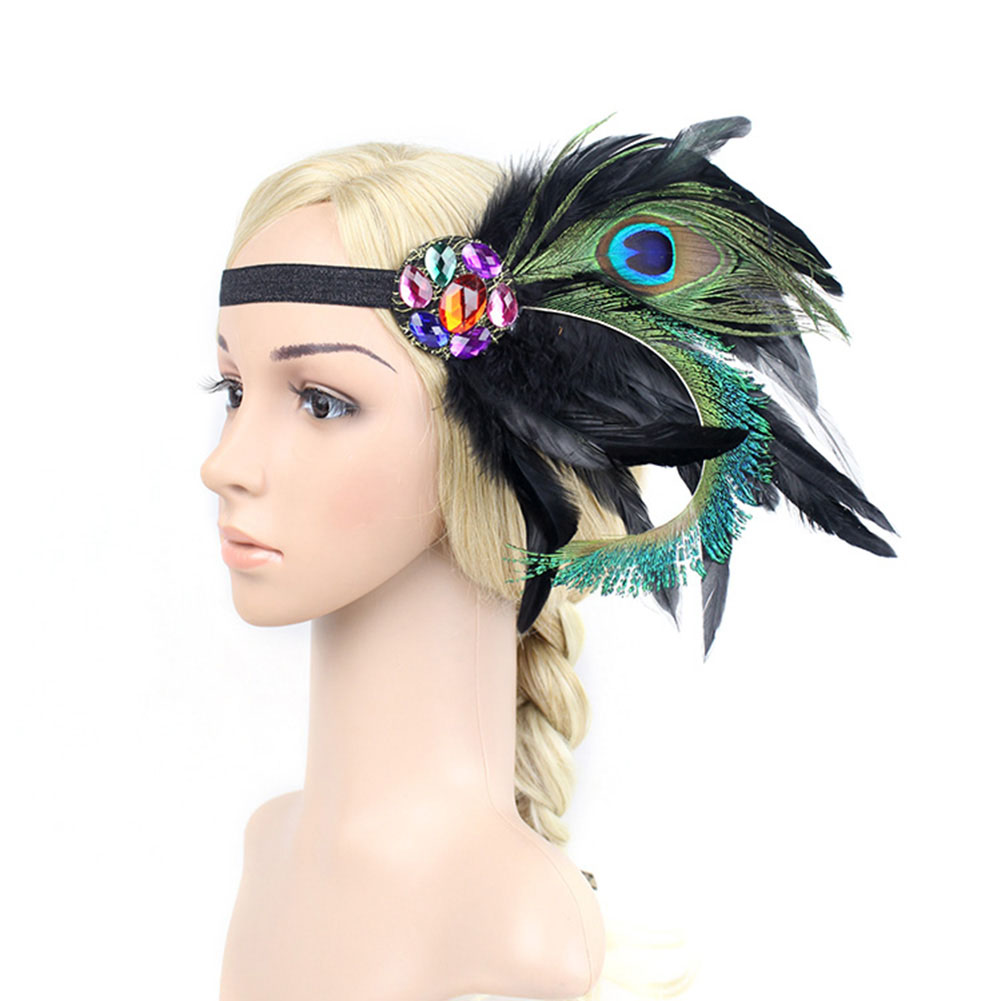 Fascinator Peacock Feather 1920s Gatsby Flapper Hairband Headband Costume Headwear(China (Mainland))
