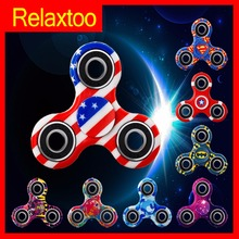 Newest Fidget Fantastic Spinner Printing Finger Spinner EDC Design Stress Relief Focus Hand Spiner Gyro Adult Kid Hero Toy Gift