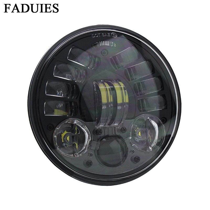 FADUIES 2018 New 5.75 inch Motorcycle Adaptive Cornering Led headlight For Harley 5-34 Motorcycle Black Projector Daymaker (4)