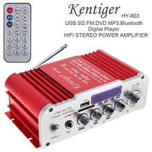 Buy Kentiger 12V 2CH HI-FI Bluetooth Car Audio Power Amplifier FM Radio Player Support SD / USB / DVD / MP3 Input Car Motorcycle for $27.40 in AliExpress store