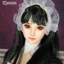 Estartek Customized 1/6 Obitsu KE17 Maid Clara Hand Paint Head Sculpt + Face Makcup + Hair for 12inch Phicen Action Figure DIY(China)