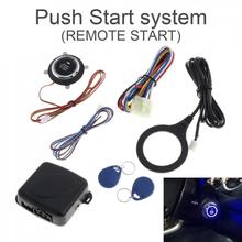 Universal DC12V Smart Auto RFID Car Alarm System and Warded lock Anti-theft Push Engine Start Stop Button System(China)