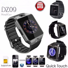 functional digital touch screen Wearable Smartwatch DZ09 SIM TF Card Bluetooth Phone watch Men For Sport Android Watch(China)
