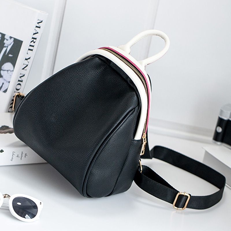 Autumn  new arrive big promotion casual black white backpack Women Double Shoulder Bags PU Leather School Bags  for Teenagers<br><br>Aliexpress