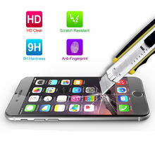 For iPhone 4 4S 5 5S SE 5C 6 6S 7 8 Plus X Screen Protector Film Premium Ballistic Glass Tempered Glass Anti-scratch Cover