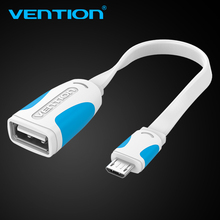Vention Micro USB OTG to USB Adapter Cable Micro USB Male OTG to USB Female Adapter For Samsung Xiaomi Sony Huawei OTG Adapter(China)