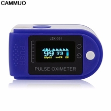 CAMMUO Finger Oximeter Blood Pressure Fingertip Pulse Oximeter Oxymeter Monitor OLED Display Oximetro Home Hospital Health Care(China)