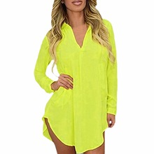 6XL Women Chiffon Blouses 2017 Plus Size Clothing Long Sleeve Turn-down Collar Asymmetric Shirt Casual Loose Tops Chemise Femme