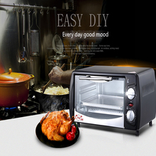 Household Baking Mini Oven 12L Stainless Steel Electric Oven Cake Toaster pizza oven Kitchen Appliances 1pc(China)