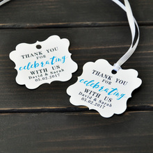 Personalized Wedding Tags,Wedding Thank You Tags,Wedding Gift Tags, Wedding Favor Tags,Thank You for Celebrating with Us