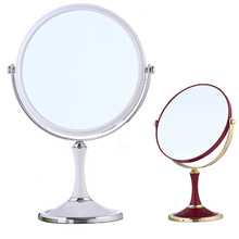 8 Inch Cosmetic Mirror Round Oval Model Two Kinds Of Color Rotation Double Faced Cosmetic Mirror 3 Times Magnifier Normal Mirror(China)