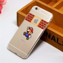 Super Marios Bros Princess Ariel Little Mermaid Semi Snow White Case for iPhone 4 4s 5C SE 5 5S 6 6S Plus 7 7Plus 8 8Plus X(China)