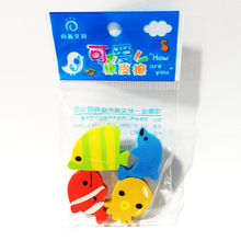 16 pcs/lot (4 bags) Cute Kawaii The Underwater World Rubber Eraser For Pencils School Supplies Free Shipping(China)