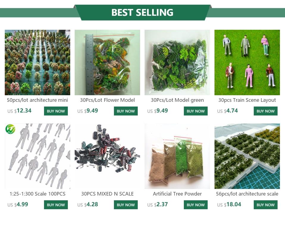 Miniature green garden plants bushes HO O scale for model railway /& dollhouse