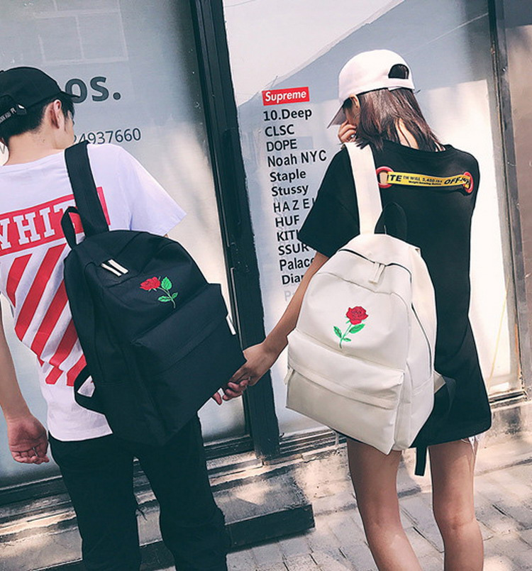 Armsa tikandiga valge või must seljakott
