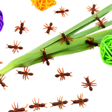 10PCS Halloween Christmas Gift Ant Prank Funny Trick Joke Special Lifelike Model Fake Ant Toy Event Party Supplies Wholesale