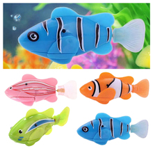 Wholesale!Fashion Swimming Robofish Activated Battery Powered Robo Fish Toy Fish Robotic(China)
