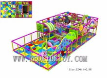Custom-made Kids Playground Equipment  CE Certificated Kindergarten Indoor Playground 150604