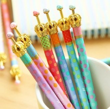 1PCS/Lot Luxury crown gel pen dots Princess pen Stationery Canetas escolar zakka Office supply material school(China)