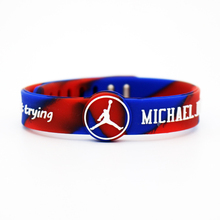 Buy Colorful Favorite Basketball stars Jordan Kobe Curry Sports Silicone Wristbands Size Can Adjustable Energy Wristband Bracelets for $1.09 in AliExpress store