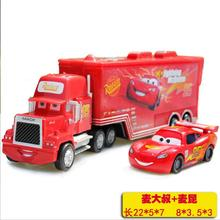 2pcs/set DISNEY Pixar Cars Lightning McQueen Metal Container with the car Toy Car For Children Loose Free Shipping(China)