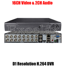 16CH CIF D1 Resolution H.264 Standalone DVR 16-Channel Digital Video Recorder HDMI BNC RCA Port P2P Cloud for Analog CCTV Camera(China)