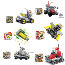 2016 New original Missile Transporter Car Model Building Blocks Sets DIY Assembly Toy Car Bricks Toys Compatible Legoe Vehicles