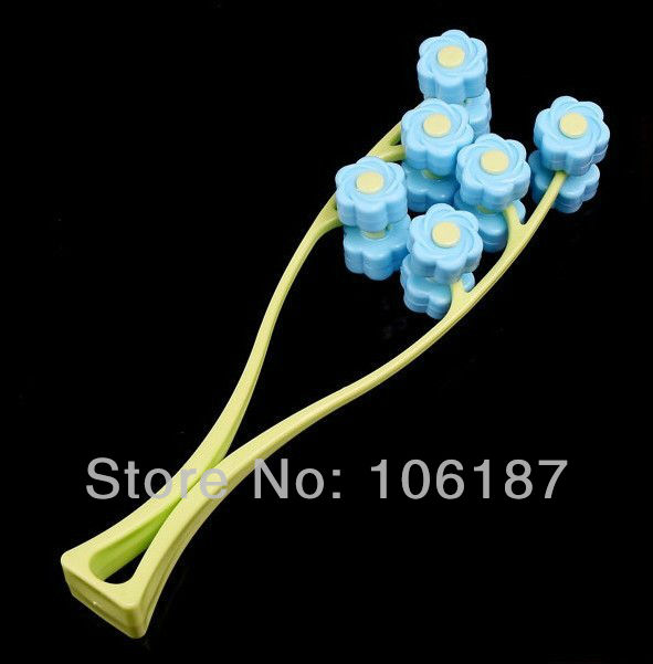 2 in 1 Flower Design Face Up Rollers Massage Slimming Remove Face Neck Line Facial Beauty Free Shipping Dropshipping<br><br>Aliexpress