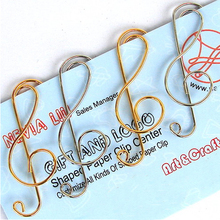 FREE SHIPPING Paper Clips bookmark GOLD+SLIVER music note Card Office supply mix order wholesale 300pcs /LOT. 42*16MM