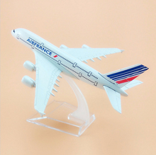 New Alloy Metal AIR France A380 Airlines Aircraft Airbus A380 Airways Airplane Model W Stand For Kids Toys Gift Free Shipping(China)