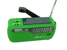 New DEGEN DE13 FM/ AM/ SW radio Hand Cranking & Solar Power Radio LED Flashlight