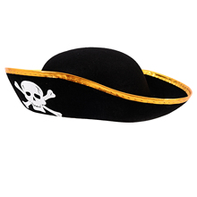 FS Hot Unisex Dressing Up White Skull Pattern Pirate Bucket Hat Cap