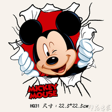 Cartoon Mickey heat transfer Offset heat transfer patterns DIY crafts clothing patch cloth paste decals