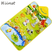 HIINST Best-seller Kids Baby Farm Animal Musical Music Click Play Singing Gym Carpet Mat Toy  drop ship S7 gift