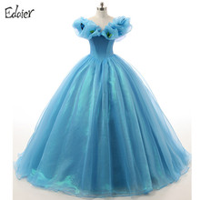 Blue Quinceanera Dresses 2017 Prom Gown Ball Gown Off Shoulder Vestidos De 15 Anos Sweet 16 Dress Debutante Gowns(China)