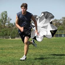 Black Speed Resistance Training Parachute Running Chute Soccer Football Training Parachute Umbrella