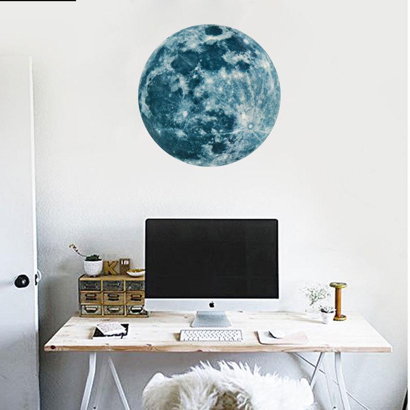 HTB17Z85SpXXXXbfapXXq6xXFXXX3 - Super Luminous moon wallpaper luminous wall stickers luminous waterproof stickers children bedroom bedroom decoration mural