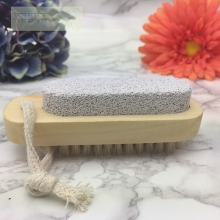 Natural bristle the pumice wooden bath brush Spa Scrubber Body Brush skin massage shower bathroom products free shipping