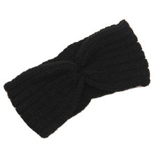 Hot Sale Black Women Knitted Wool Headband Winter Warm Bohemia Crochet Headwrap Autmn Trendy Hairband