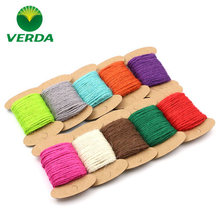 3pcs DIY Craft Supplies Colour hemp rope Bind the rope Photo wall decoration 2 mm in diameter 10meters/roll free shipping(China)