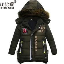 Bibihou New Boys Parka Snowsuit Children Jackets Warm Boys Clothes Kids Baby Thick Cotton Jacket Cold Winter Coat Outwear
