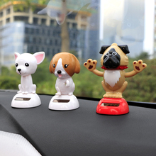 Car-Styling ABS Solar Powered Shaking Swing Head Dog Car Dashboard Toys Decoration Ornament Auto Decorative Dog Doll Decor Gift(China)