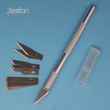 Jeslon 9 Blades +1 Handle Wood Carving Tools Fruit Food Craft Sculpture Engraving Knife Scalpel DIY Cutting Tool PCB Repair